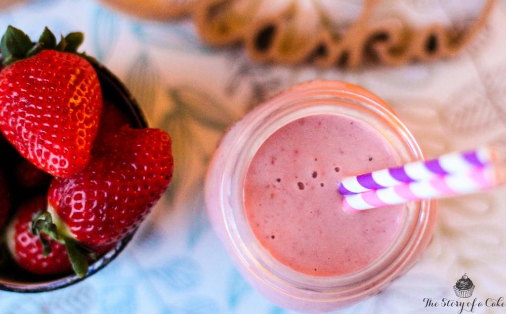 Avokádovo – jahodové smoothie