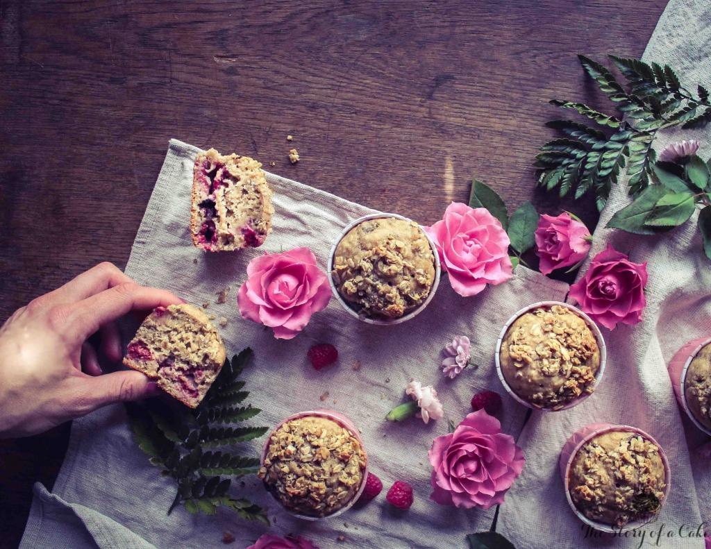 Malinovo-banánové muffiny (Raspberry banana muffins)