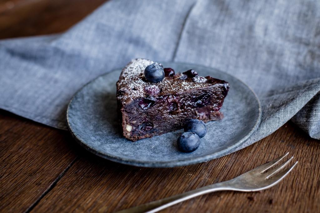 Čučoriedkové extra čokoládové brownies