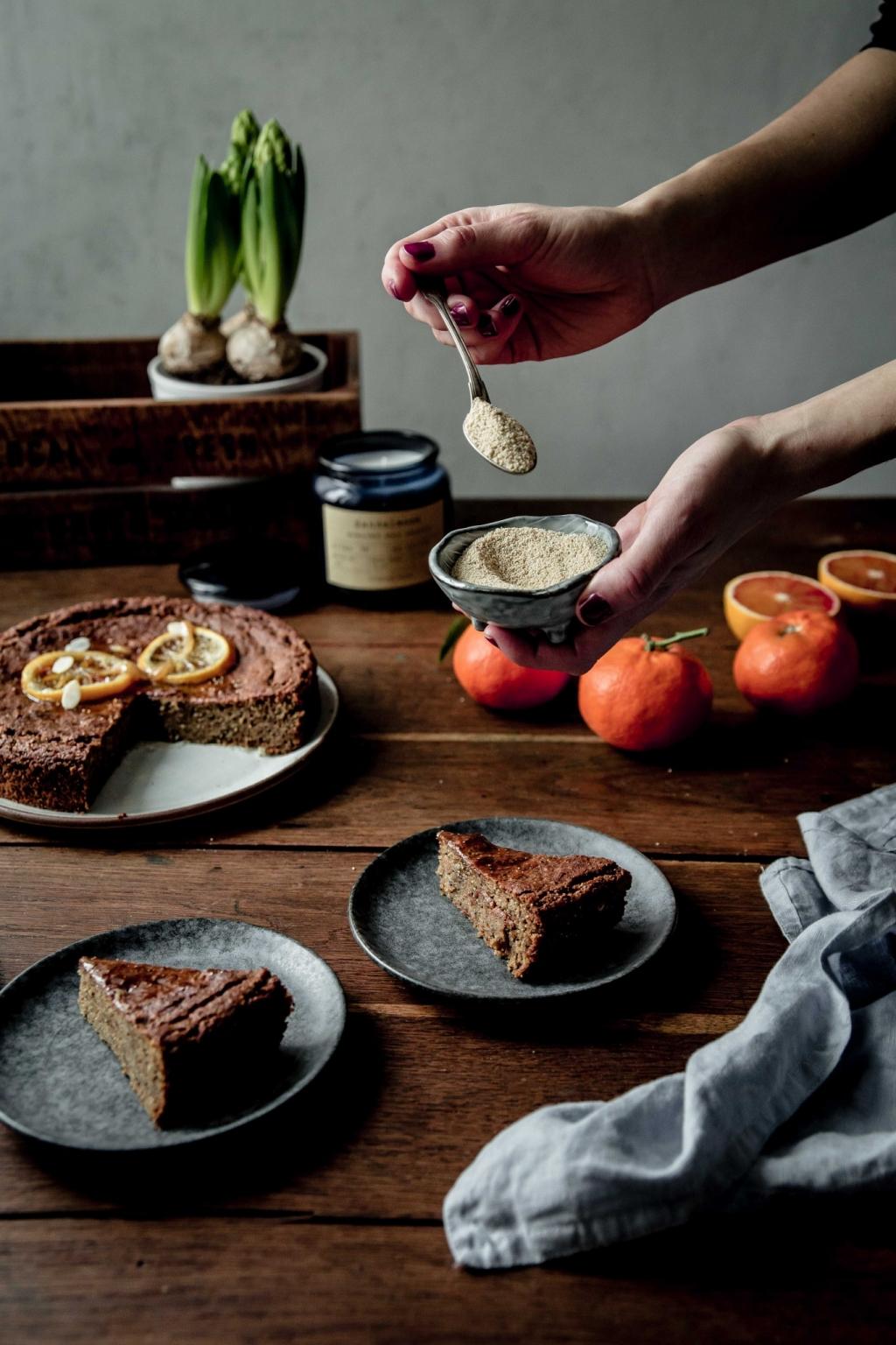 Makový koláč s jablkovou múkou (GF)