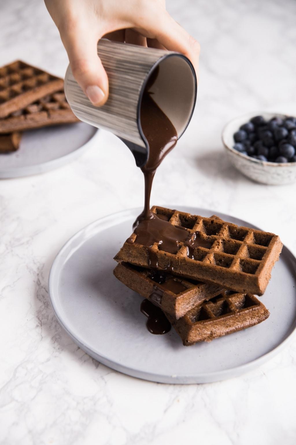 Hriešne čokoládové waffle