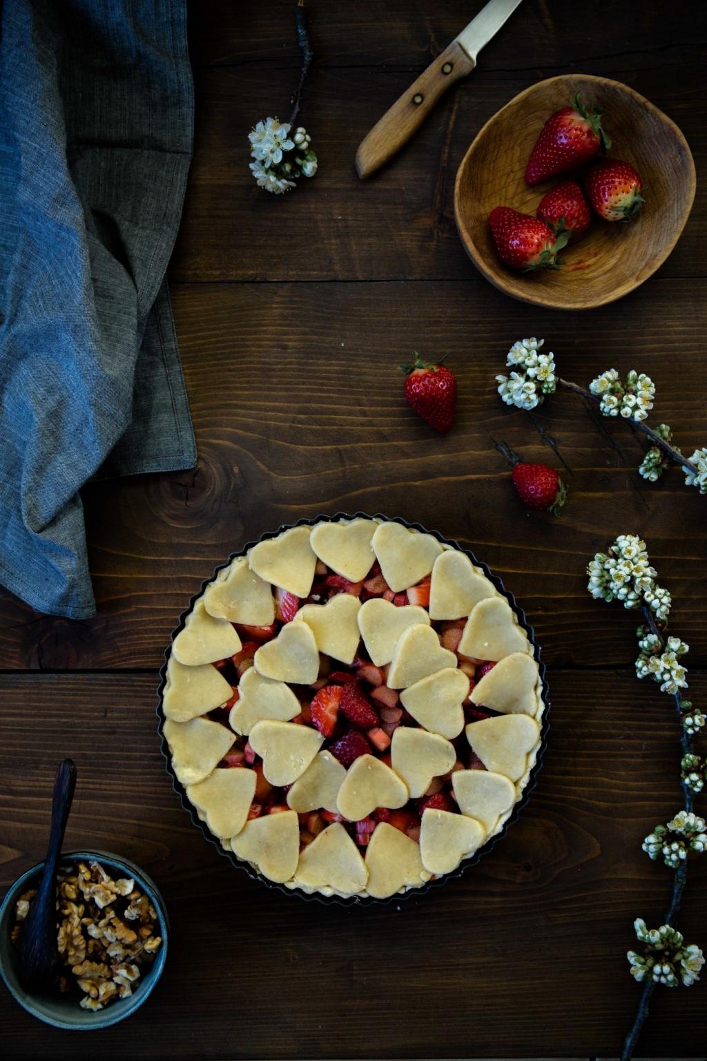Rebarborovo-jahodový páj
