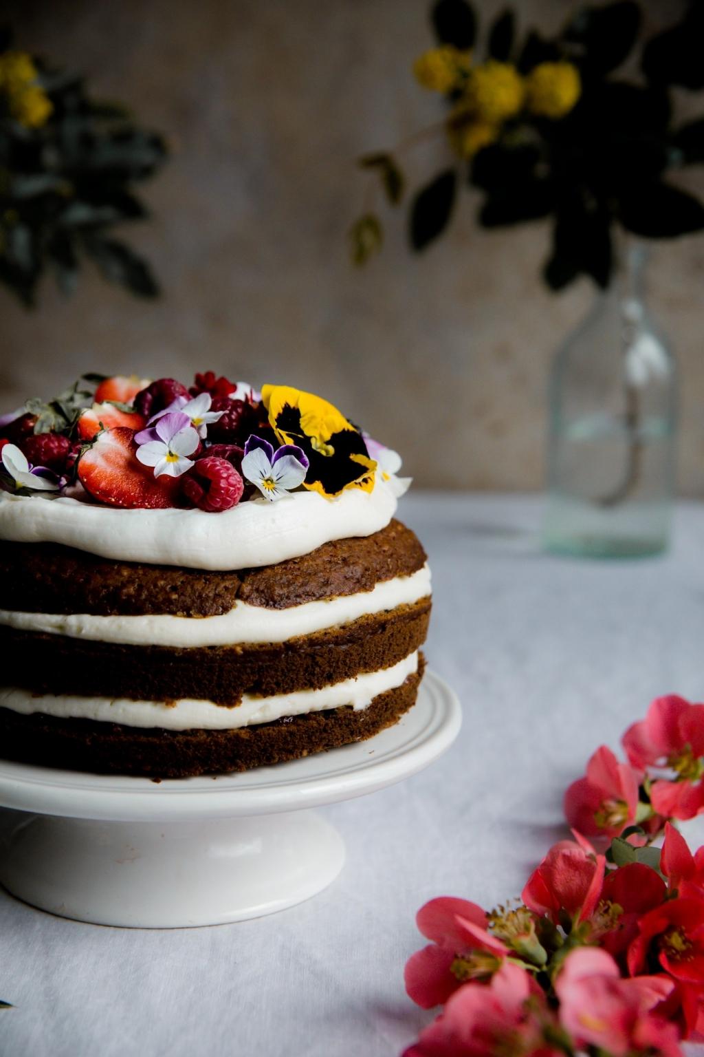 Kolíbríková torta s ricottovým krémom