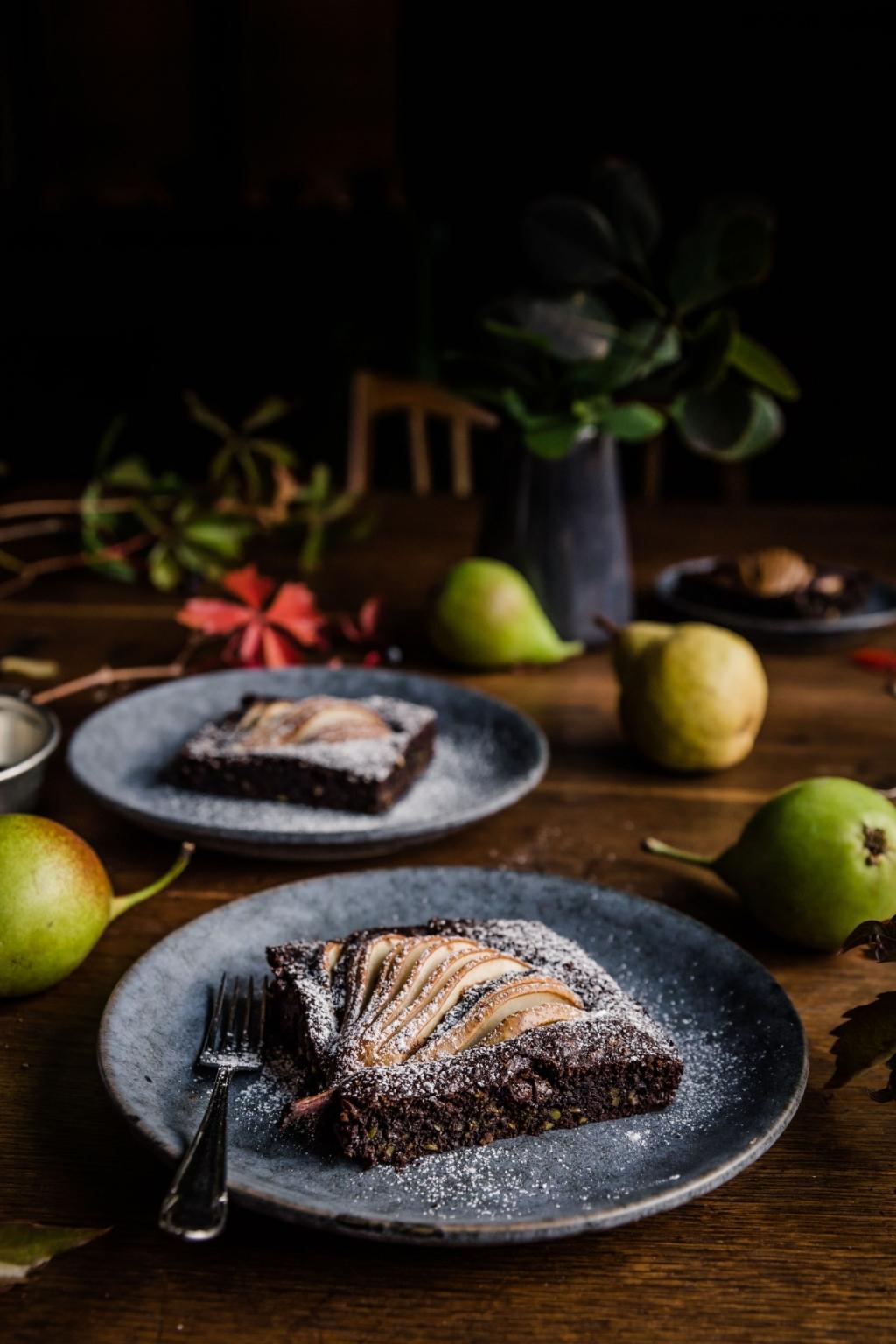 Hruškový koláč s čokoládou (bezlepkový)
