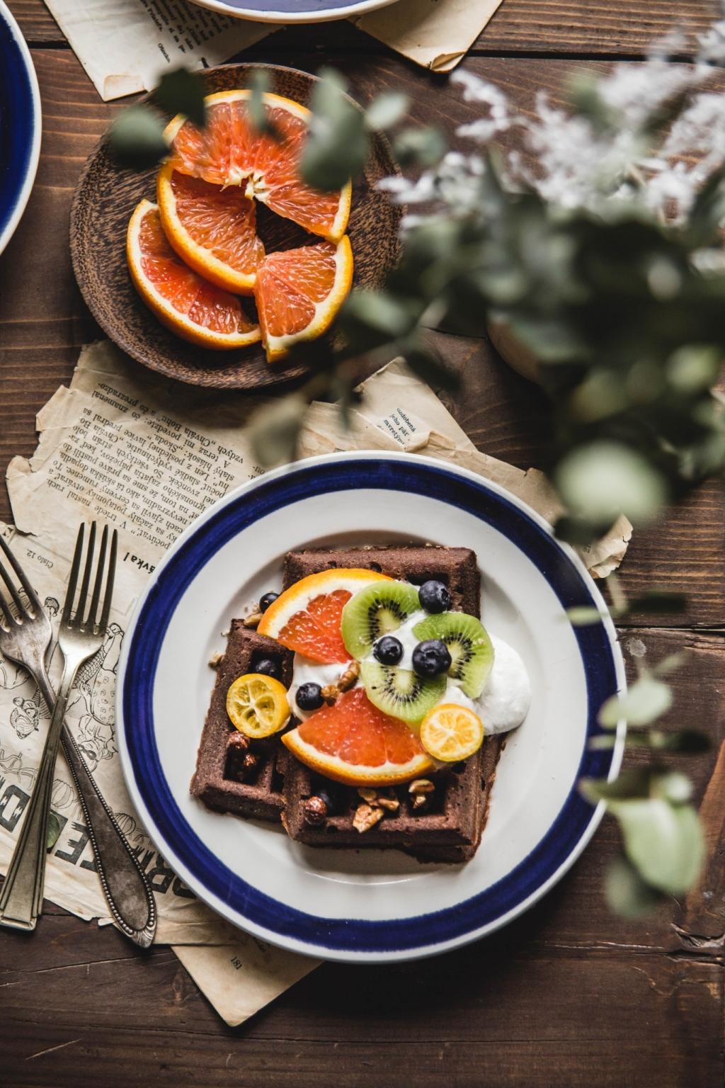 Sladké raňajky (vafličky s ovocím)