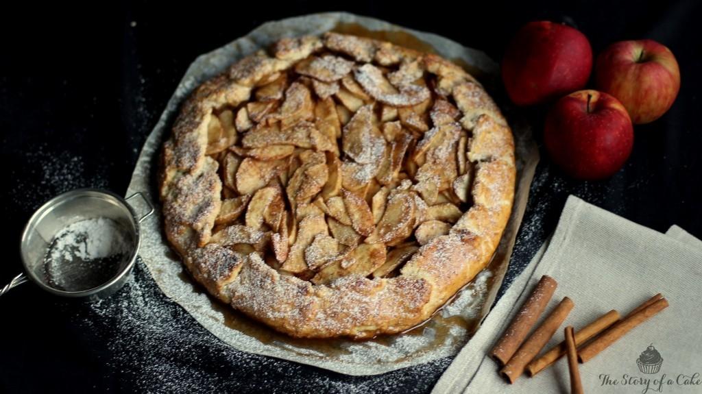Jablková rustikálna galette