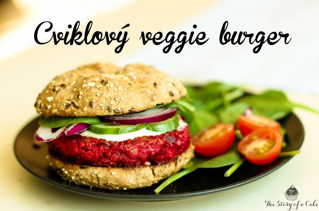 Cviklový veggie burger