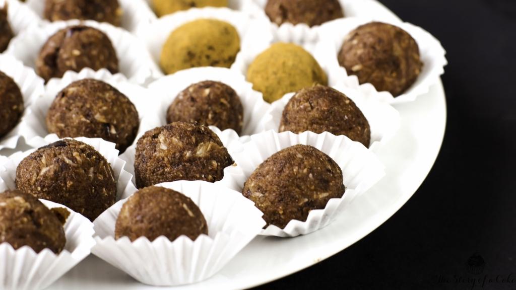 Mandľovo-kakaové energy guličky