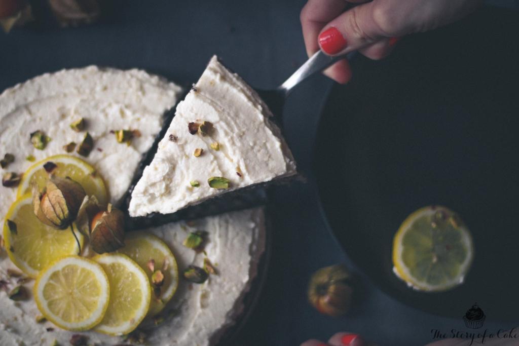 Maková torta s citrónovým krémom (bez múky a bez cukru)
