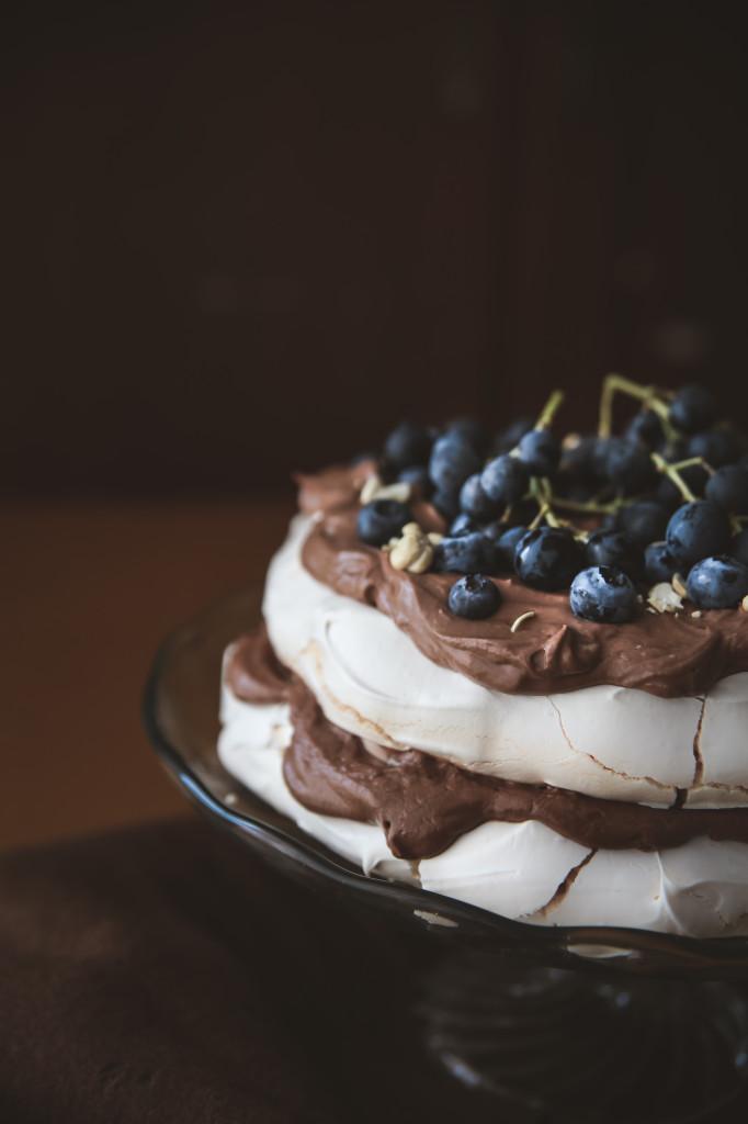 Pavlovovej torta (Pavlova cake)