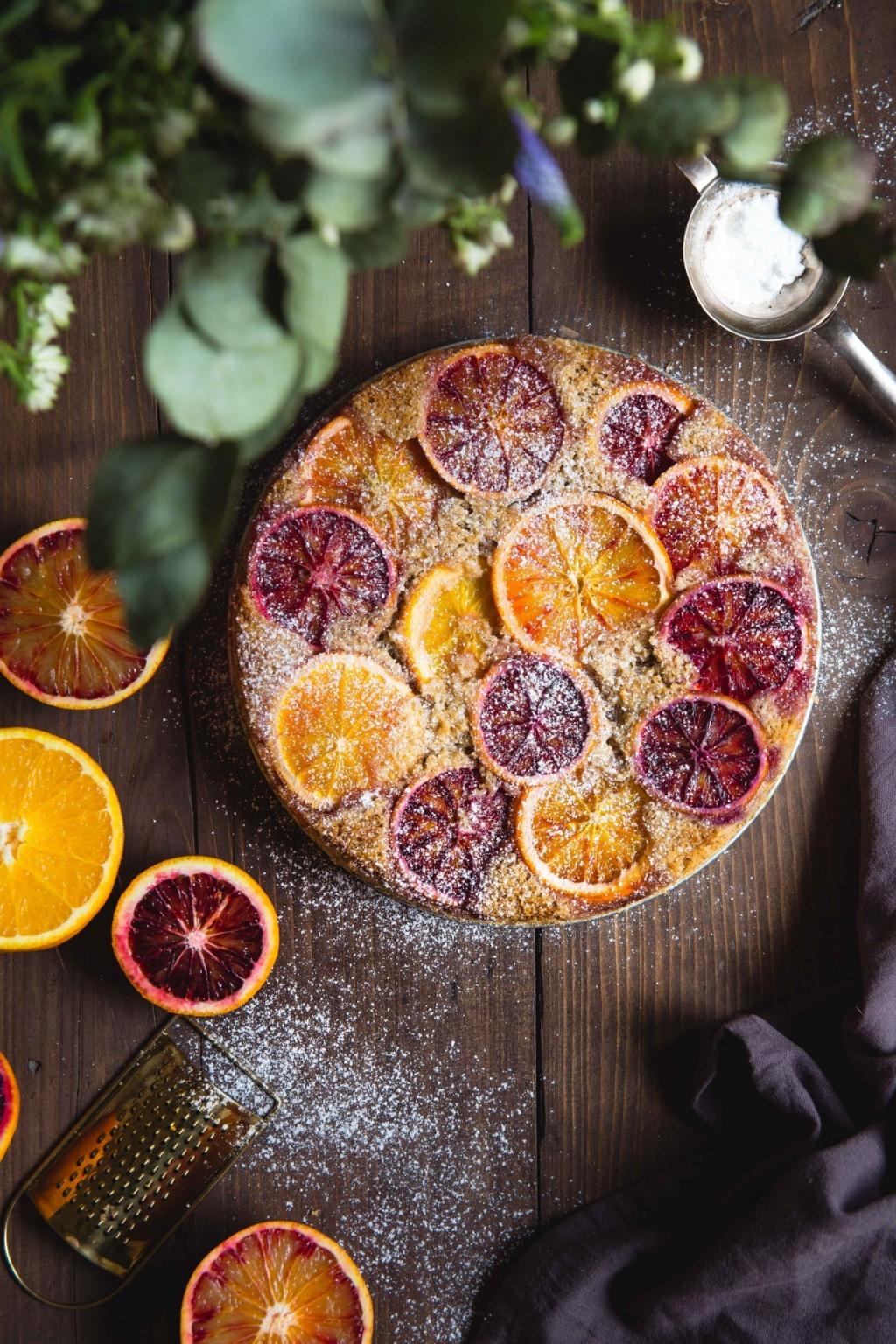 Obrátený pomarančový koláč