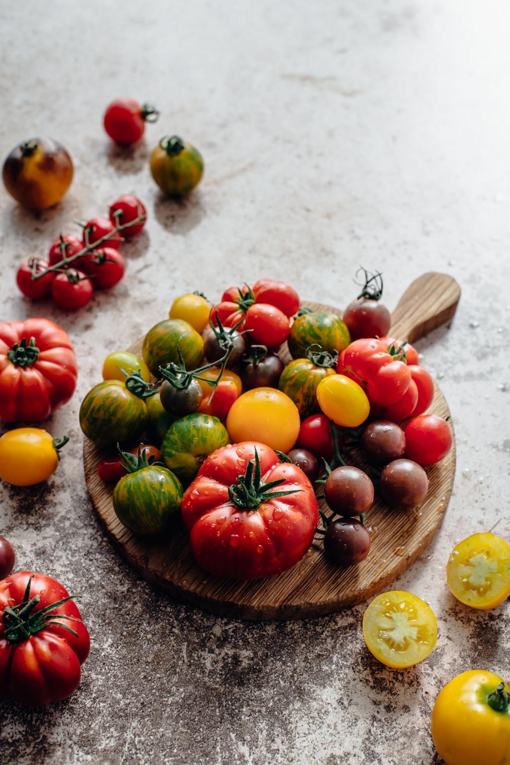 Letný slaný koláč s paradajkami a panzanella šalát